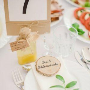 Dekoracja stołu dla gości
