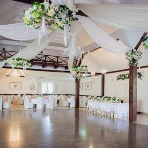 """Dekoracja sali weselnej """"Rybaczówka"""""""